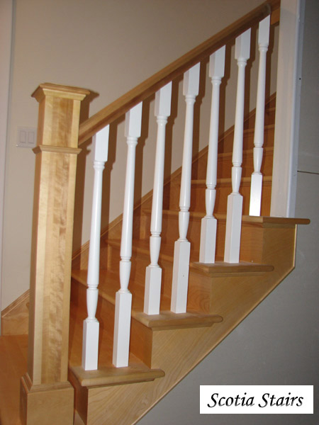 Natural Birch 2 Tone Stairs   Birch U0026 White Marion Balusters   Photo #2