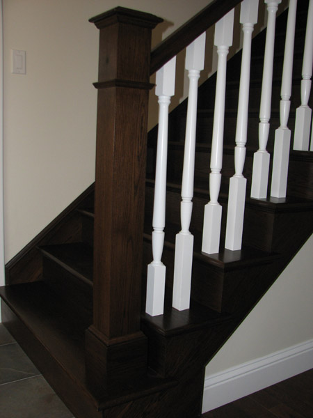 Stained Pine Stairs : Pictures of Stairs - Wood Stairway Photos - Photo Gallery