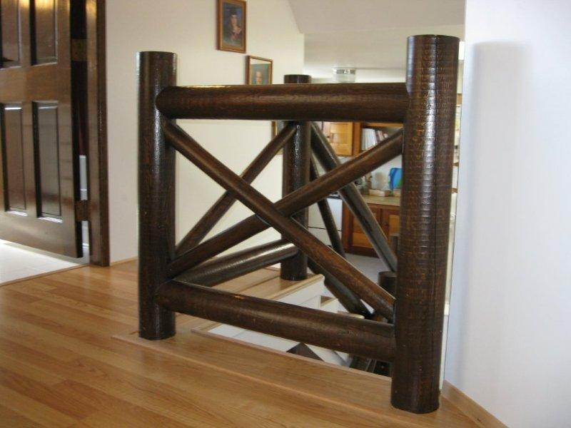 Oak Full False Treads & Oak Craftsmen Rail system In Clear Coat Finish - Picture #3