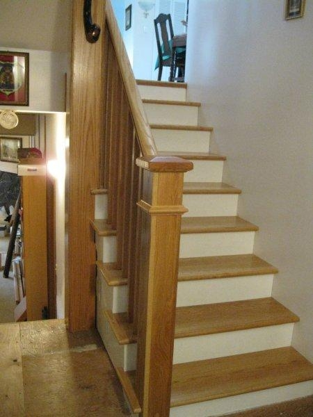 Oak Full False Treads & Oak Craftsmen Rail system In Clear Coat Finish - Picture #5