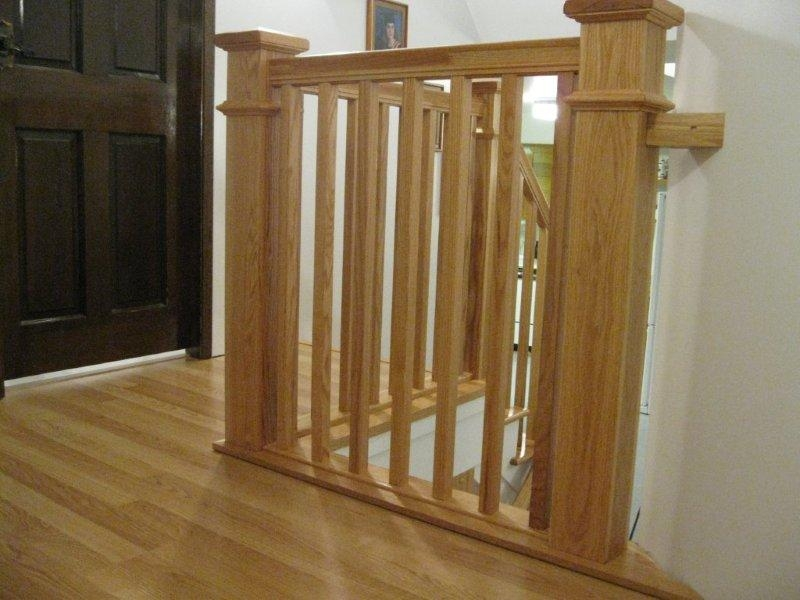 Oak Full False Treads & Oak Craftsmen Rail system In Clear Coat Finish - Picture #8