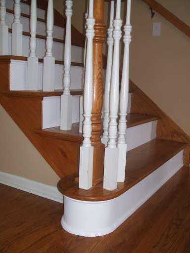 Open Hardwood Stairway