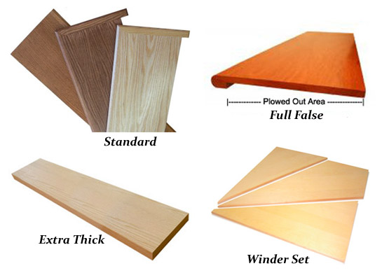 Solid Wood Stair Treads U2013 Square Edge, Miter End, False And Custom Treads,  Winders, Pie, Volute, Oversized, And More: