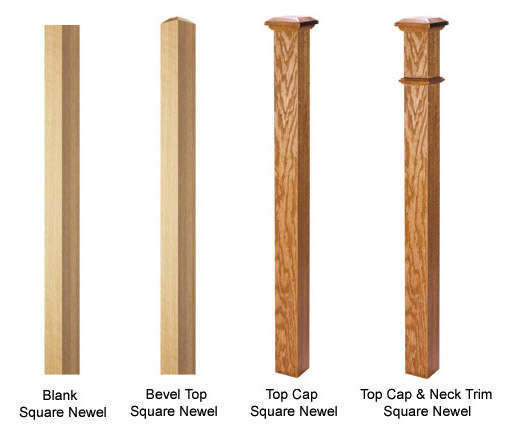 Craftsman Square Newel Posts