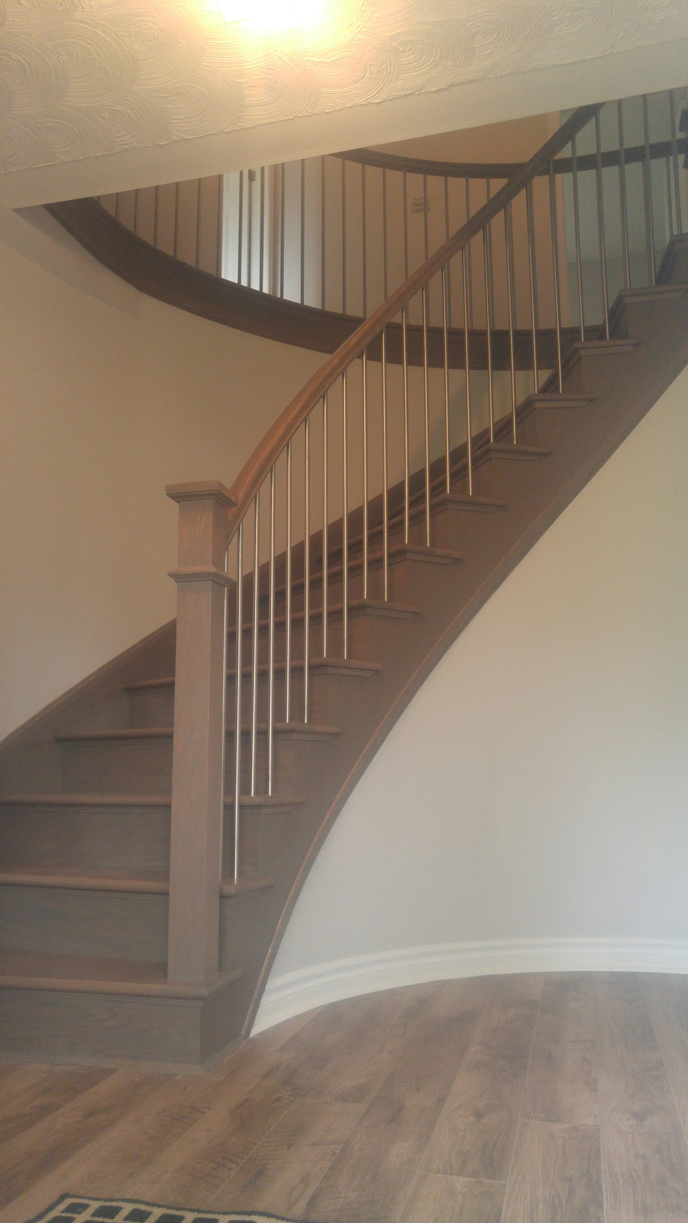 Curved staircase packages designed for curved stairs for Arched staircase
